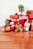 Gift pile on a floor Stock Photography