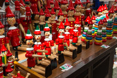 Gift Pinocchio on market in Italy Royalty Free Stock Photo