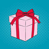 Gift pop art retro style Royalty Free Stock Images