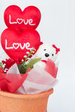 Gift in pot Stock Images