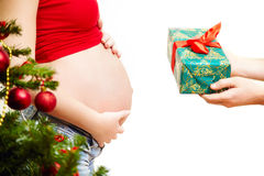 Gift pregnant Royalty Free Stock Image