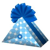 Gift, present. Vector, illustration, wrapping Stock Images