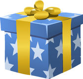 Gift, Present, Box, Wrapped, Bow Royalty Free Stock Images