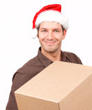 Gift present christmas post Stock Photo
