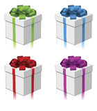 Gift or present four colors Stock Photos