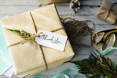 Gift Present Offering Surprise Thank You Warp Concept Stock Photo