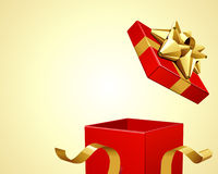 Gift present open. Background Stock Photography