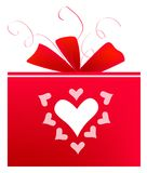 Gift present ribbon Stock Photography