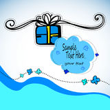 Gift present  ribbon surprise happy design birthday box illustration Royalty Free Stock Image