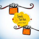 Gift present  ribbon surprise happy design birthday box illustration Stock Photography