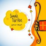 Gift present  ribbon surprise happy design birthday box illustration Stock Images