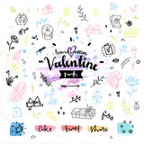 Gift present Valentines day vector graphics Stock Photography