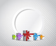 Gift presents card illustration design Stock Photography