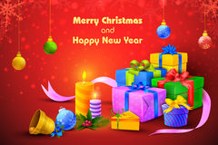 Gift and presents for Merry Christmas and New Year Royalty Free Stock Photography