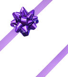 Gift purple ribbon Royalty Free Stock Image