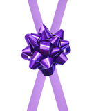 Gift purple ribbon Stock Image