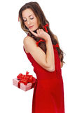 Gift in red Royalty Free Stock Images