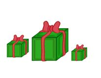 Gift with red bow Royalty Free Stock Photos