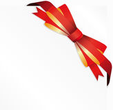 Gift red bow. Royalty Free Stock Photos
