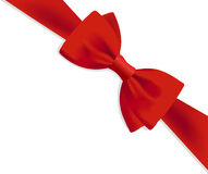 Gift red bow. Realistic design of a gift red bow Stock Photos