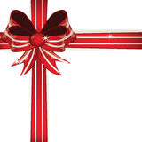 Gift red bow Stock Photos