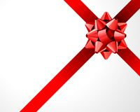 Gift red bow Royalty Free Stock Photos