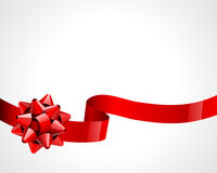 Gift red bow Stock Image