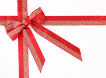 Gift red bow. Isolated on white Royalty Free Stock Photo