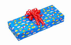 Gift with red bow Royalty Free Stock Images