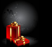 Gift in red box Royalty Free Stock Image