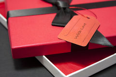 Gift in a red box Royalty Free Stock Image