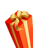 Gift - red box. Isolated over white Royalty Free Stock Photo