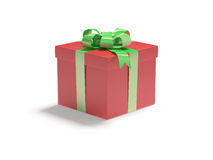 Gift in the red box Stock Images