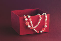 Gift in red box Royalty Free Stock Images