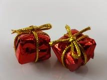 Gift red box birthday christmas decoration. Gif red box birthday christmas Royalty Free Stock Photography