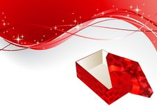 Gift red box with a bow Royalty Free Stock Photography