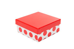 Gift red box isolated Royalty Free Stock Photography