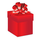 Gift red box. On white background Stock Image