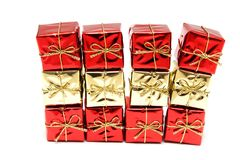 Gift red boxes Royalty Free Stock Image