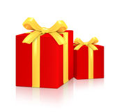 Gift Red Boxes Royalty Free Stock Photography