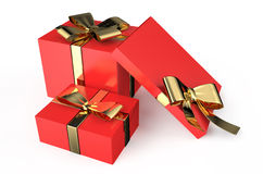 Gift red boxes Stock Image