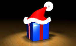 Gift with red Hat Stock Photo