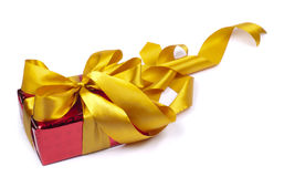 A gift is in the red packing Royalty Free Stock Photography