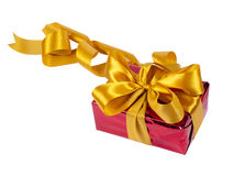 A gift is in the red packing Royalty Free Stock Images