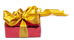 A gift is in the red packing Royalty Free Stock Photo