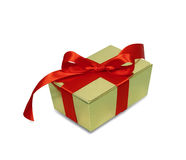 Gift with red ribbon Royalty Free Stock Photo