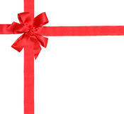 Gift red ribbon and bow Stock Photo