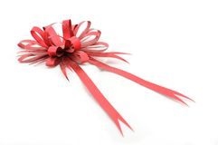 Gift red ribbon and bow Royalty Free Stock Photography