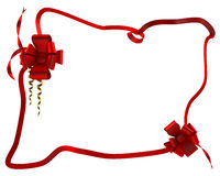 Gift red ribbon in box Stock Image