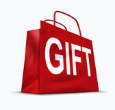 Gift red shopping bag Stock Photo